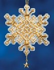 Mill Hill Christmas Ornaments 2012 - Gold Crystal - MH162305