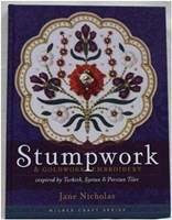STUMPWORK & GOLDWORK EMBROIDERY - Inspired by Turkish, Syrian and Persian Tiles