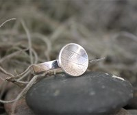 Leaf etch- Original Stacking ring