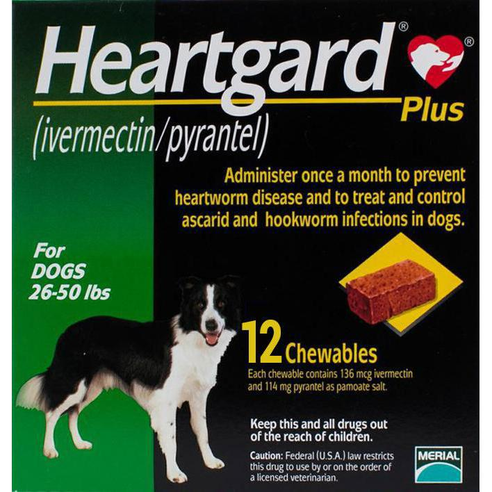 Heartgard-Chewables-Plus-Green-Dogs-26-50lbs-(12-22kg)-12-Chewables
