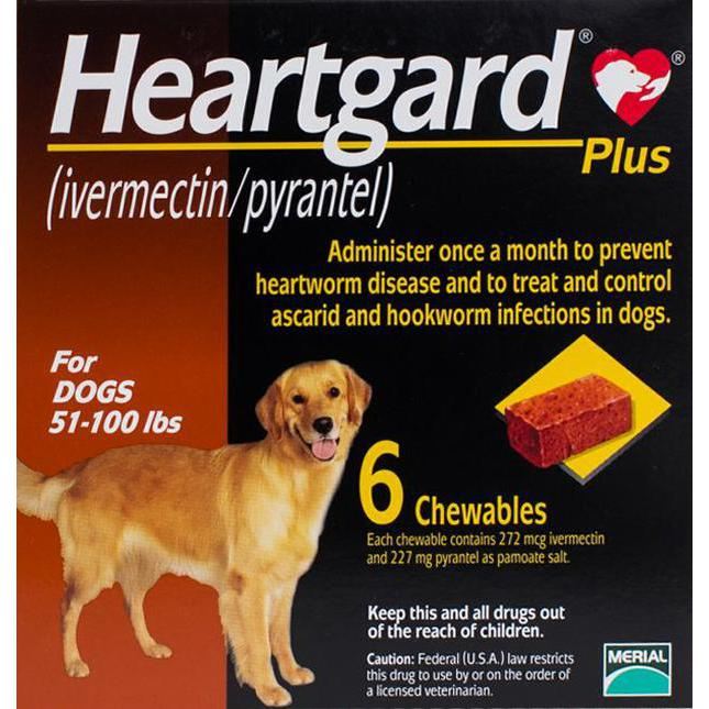 Heartgard-Chewables-Plus-Brown-Dogs-51-100-lbs-(23-45kg)-6-Chewables