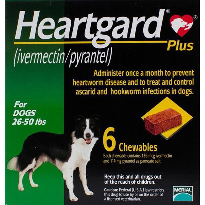 Heartgard-Chewables-Plus-Green-Dogs-26-50lbs-(12-22kg)-6-Chewables