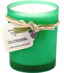Cool Citrus Basil Soy Candle; 7 oz