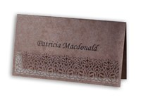 Place Card  Victorian Lace - Chocolate Lust