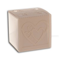 Bonbonniere Box Heart - Bright White - NEW