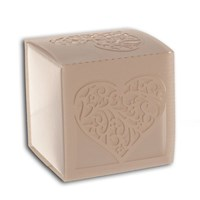 Bonbonniere Box Traditional Heart - Bright White - NEW
