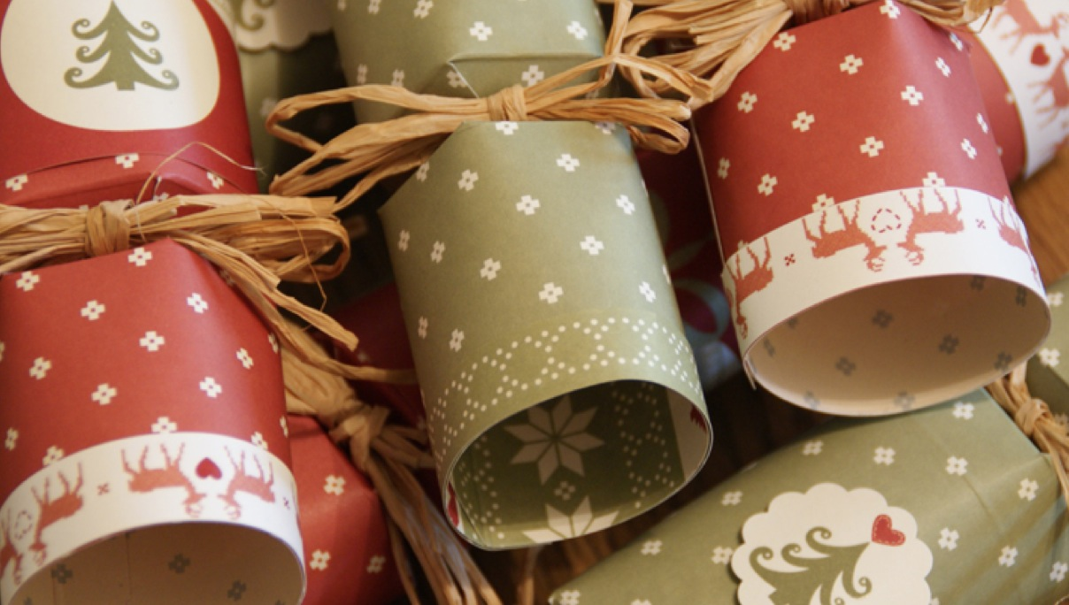 recycled christmas crackers