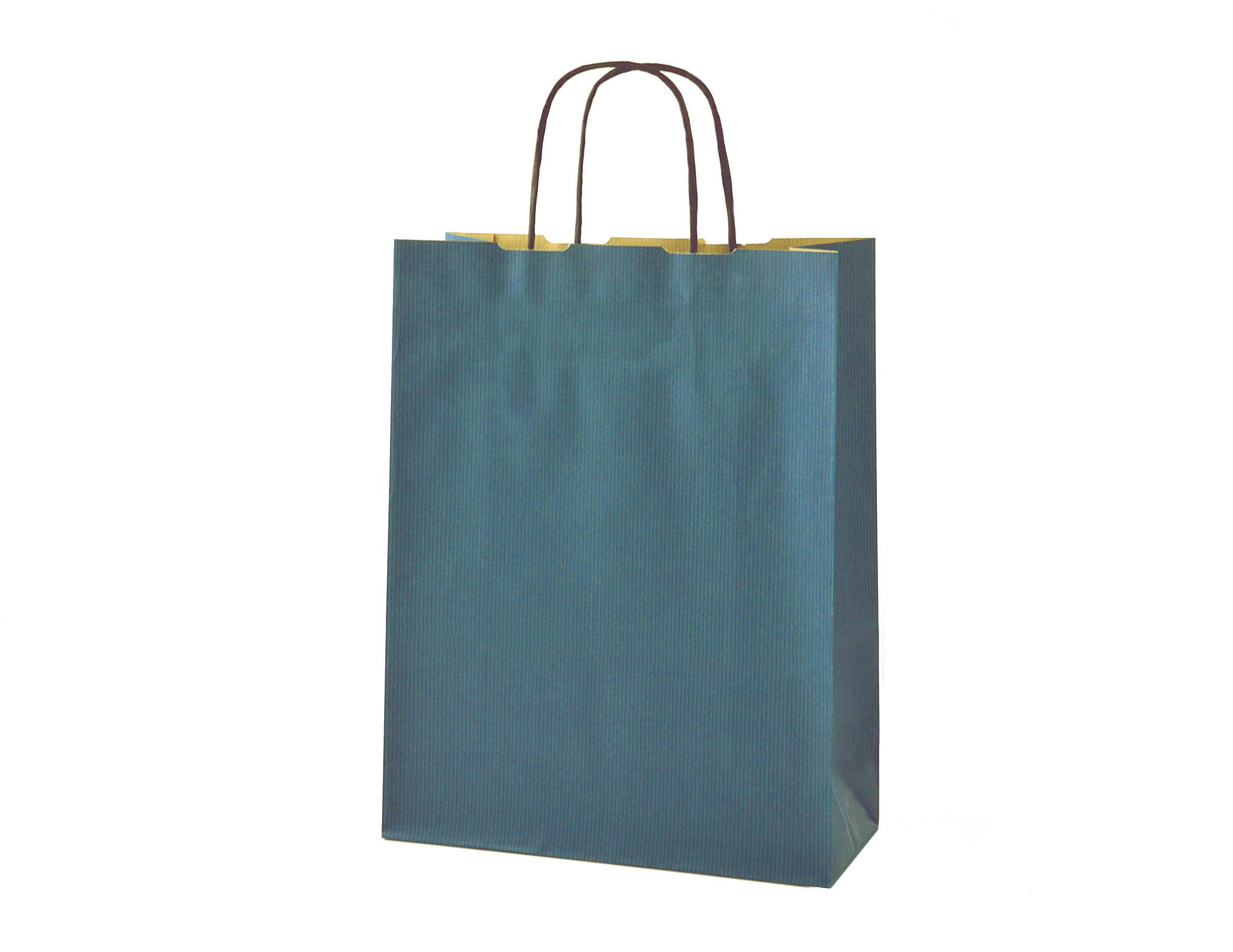Medium Navy Blue Gift Bag 24x11x31cm