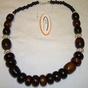 JA111-Brown Wood Necklace
