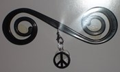 Black Peace Sign - BB3070