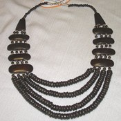 JA115- Wood Bone Necklace