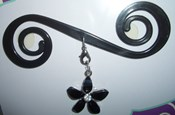 Black Sparkling Flower - BB3094