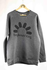 Bodyboard King Logo Crew Neck - Charcoal