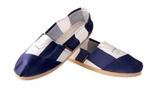 Applegator Shoes - Blue Stripe