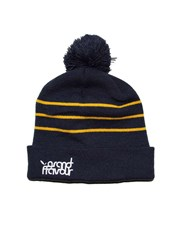 GRAND FLAVOUR Stripe Beanie - Yellow