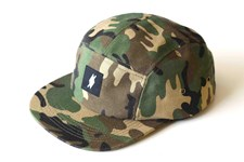 I AM NONE Camoflage 5 Panel Hat