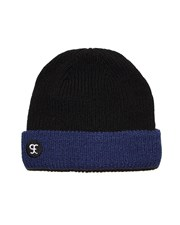 GRAND FLAVOUR Wharfie Beanie - Black/ Blue