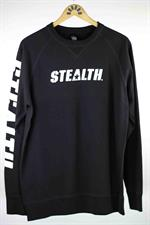 STEALTH Logo Crew Neck Jumper - Black