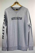 STEALTH Logo Crew Neck Jumper - Grey Marle