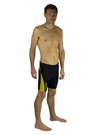 Dunes 2/2mm Wetsuit Shorts  - Black/ Yellow
