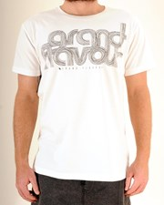 GRAND FLAVOUR Scribble T Shirt - Off White