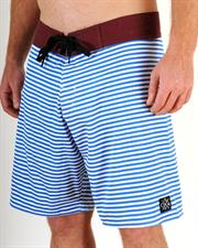 GRAND FLAVOUR Nautical Boardshorts - Navy/ White Stripes