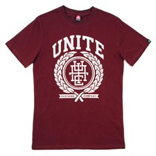 UNITE Garland T Shirt - Burgundy