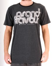 GRAND FLAVOUR Scribble T Shirt - Misty Black