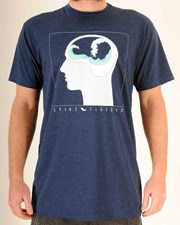 GRAND FLAVOUR Brain Waves T Shirt - Misty Blue
