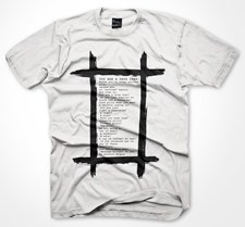 PLASTIC PEOPLE Drug User T Shirt - White