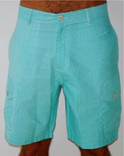 GRAND FLAVOUR  Pinstripe Shorts - Green