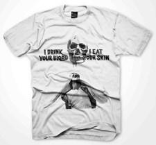 PLASTIC PEOPLE Drink Blood T Shirt  - White