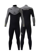REEFLEX WETSUITS MERCURY 4/3mm CHEST ZIP STEAMER - Shadow Fever