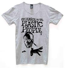 PLASTIC PEOPLE Plague T Shirt - Grey