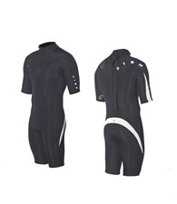 ZION WETSUITS DELUXE 2/2mm Springsuit - Black/ White