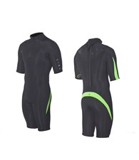 ZION WETSUITS DELUXE 2/2mm Springsuit - Black/ Lime