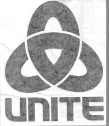 UNITE Corporate Link Die Cut Decal - Black