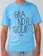 GRAND FLAVOUR Pencil T Shirt - Blue