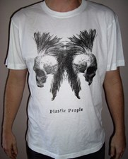 PLASTIC PEOPLE Sioux Skull T - Shirt - White
