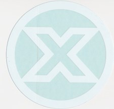 Custom X Sticker   