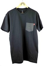 FLIP MODE CLOTHING  Pocket T Shirt - Black with Asphalt Pocket