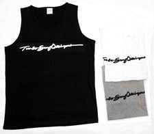 Turbo Bodyboards Running Writing Shirt Singlet