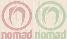 NOMAD BODYBOARDS DIE CUT LOGO STICKER