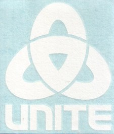 UNITE Corporate Link Die Cut Decal - White
