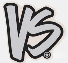 VS STICKER 17cm x 17cm - Black/ Silver