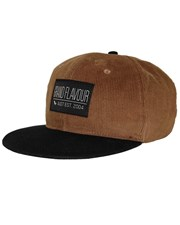 GRAND FLAVOUR Brown Cord Snap Back Hat