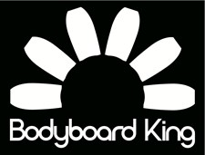 Bodyboard King Sticker  - White
