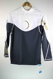 Dunes Ben Player Long Sleeve Rashvest  - Graphite/ White