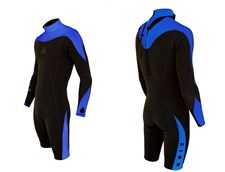 ZION WETSUITS MATLOCK 2/2mm Long Arm Springsuit - Black/ Blue