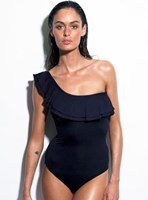 Baku Casablanca Frills Asymmetric Frill Maillot - Padded